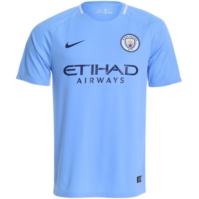 Camisa Nike Manchester City I Torcedor 2017/2018 Azul Masculina