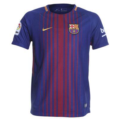 Camisa Nike Barcelona 2017/2018 I Torcedor Azul Infantil