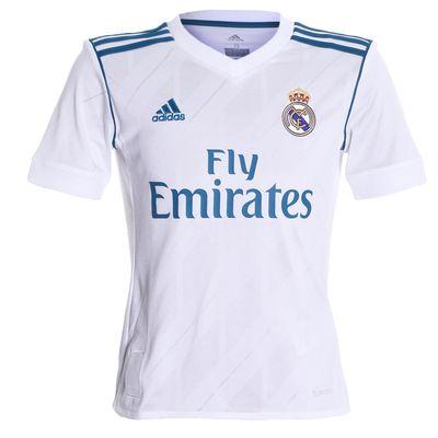 Camisa Adidas Real Madrid 2017/2018 Branca Infantil