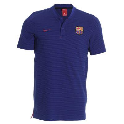 Camisa Nike Barcelona 2017/2018 NSW Modern Azul Masculina