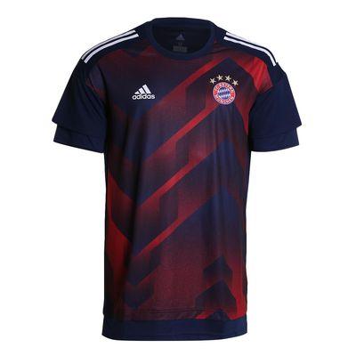 Camisa Adidas Bayern de Munique I 2017/2018 Treino Azul Masculina