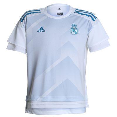 Camisa Adidas Real Madrid 2017/2018 H Preshi Y Branca Infantil