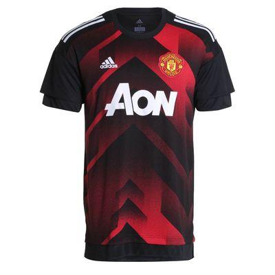 Camisa Adidas Manchester United I 2017/2018 Treino Preta Masculina