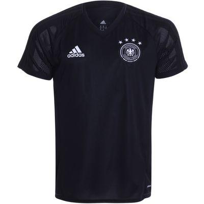 Camisa Adidas Alemanha 2017/2018 Treino Preta Masculina