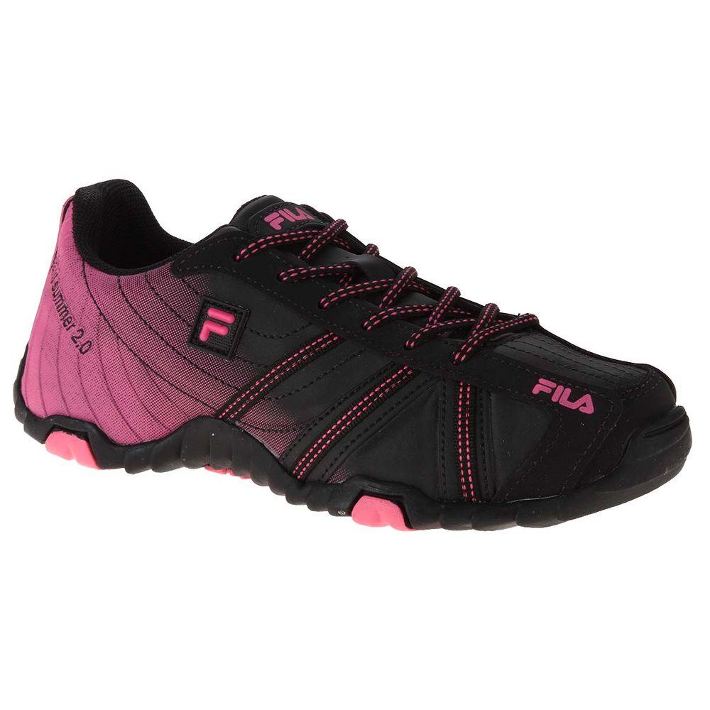 Tênis Fila Slant Summer 2.0 Feminino Preto  Pink - Gaston - Paqueta ... 418c901d19d1f