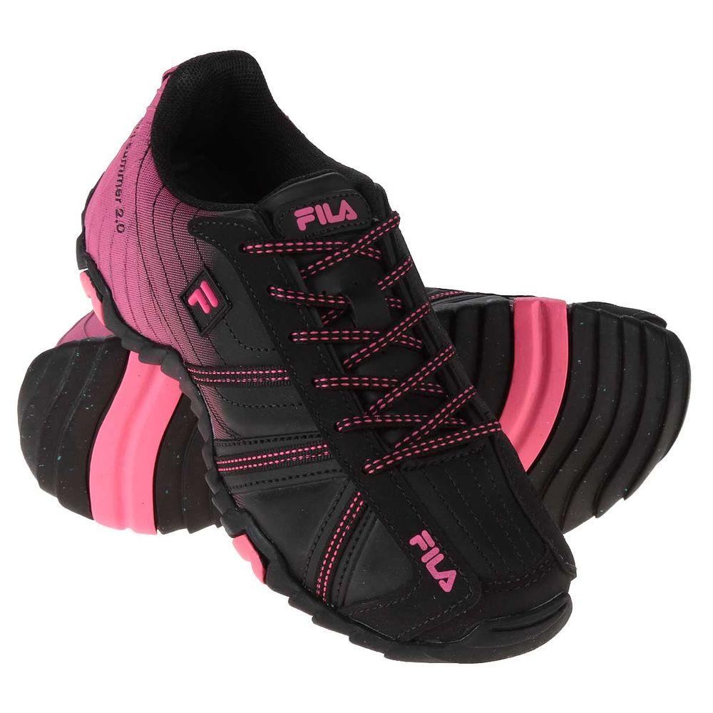 Tênis Fila Slant Summer 2.0 Feminino Preto  Pink - Gaston - Paqueta Esportes 9c0747769d080