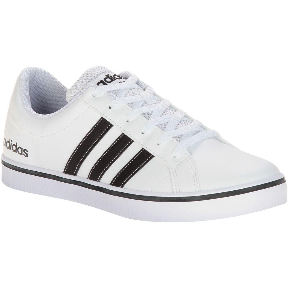 c3e50a3385 Tênis Adidas Pace VS Branco Masculino Branco e Preto - Gaston ...