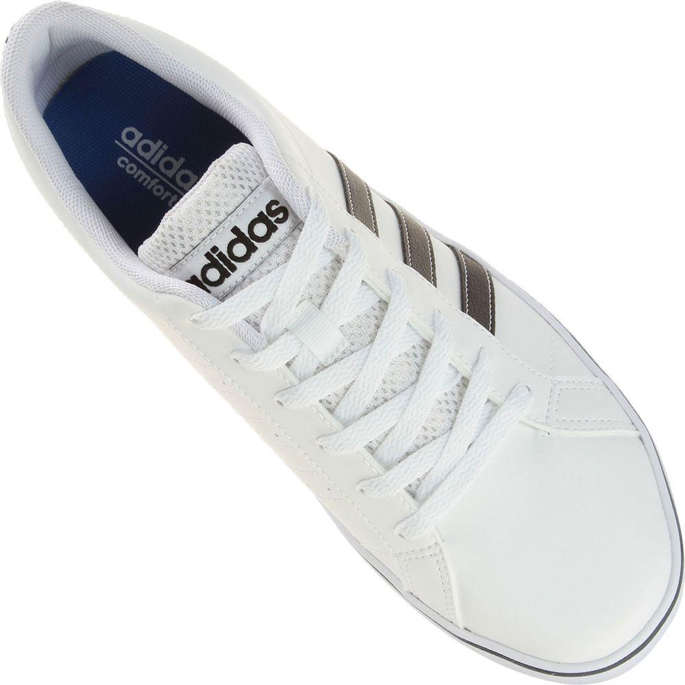 24687c4da Tênis Adidas Pace VS Branco Masculino Branco e Preto - Gaston ...