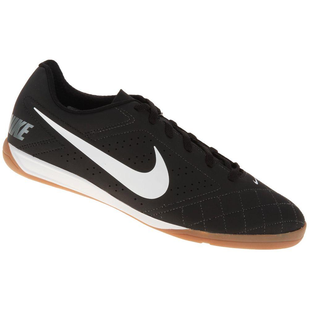 51c34ee832 Chuteira Futsal Nike Beco 2 Preto e Branco - Gaston - Paqueta Esportes