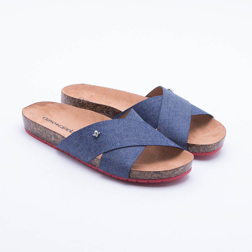 f113014d09 Rasteira Cravo   Canela Azul Azul - Gaston - Paqueta Calçados