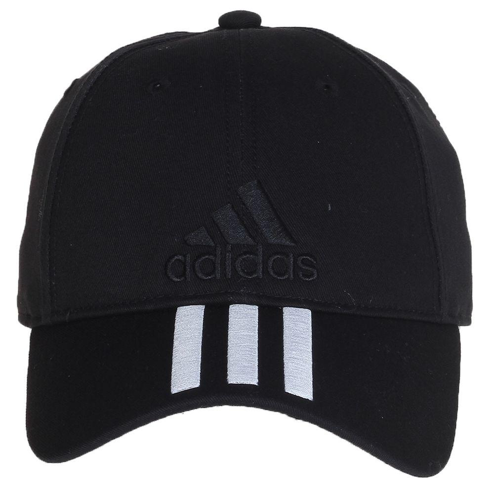 Boné Adidas 6 painéis Classic 3S Preto - Gaston - Paqueta Esportes 08d2725d460