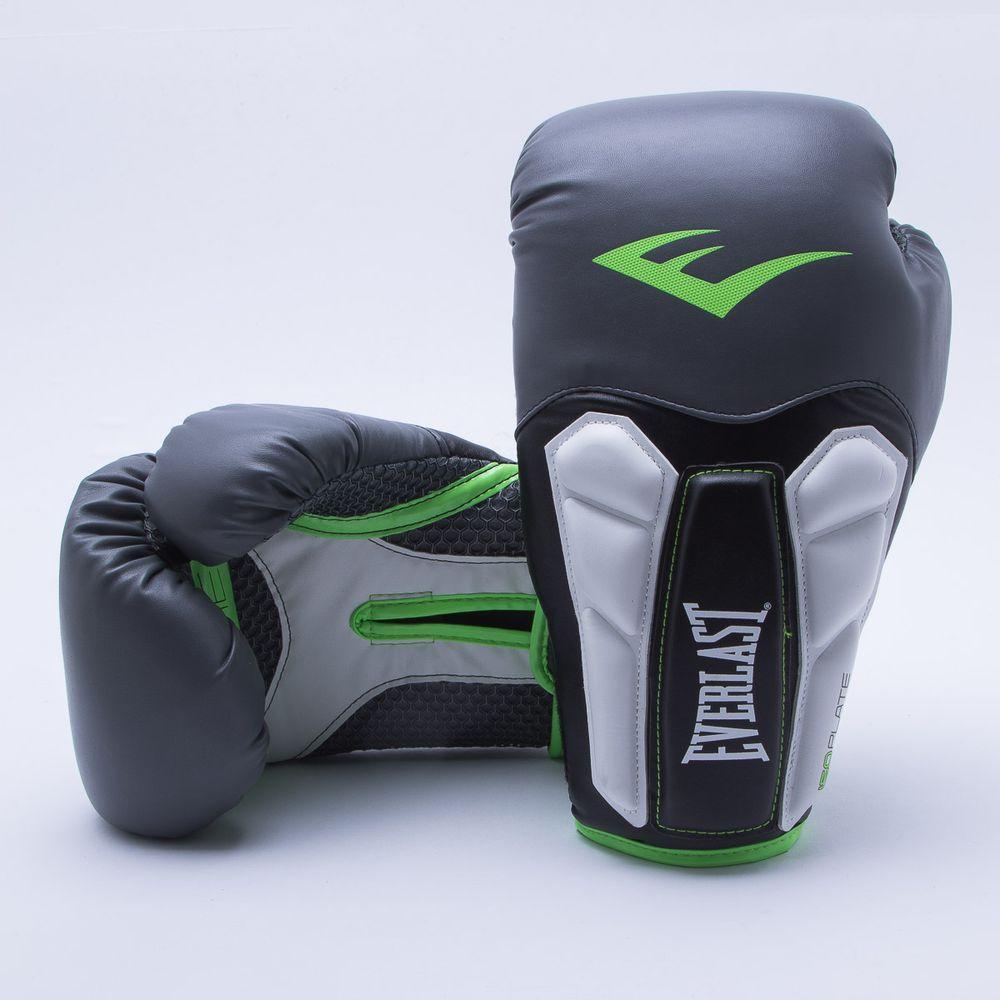 Luva de Boxe Everlast Pro Style 14 OZ Preto e Verde - Gaston ... b31e38fe42471