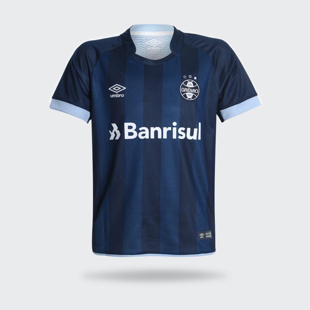 082a610ddf984 Camisa Umbro Grêmio 2017 III Com Número Azul Marinho Juvenil Azul ...