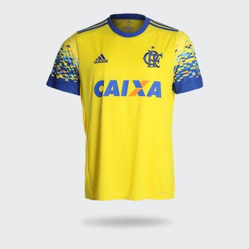 Camisa Adidas Flamengo III 2017 Amarela Masculina c14d4dbac28b0