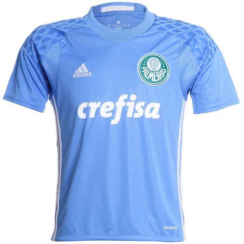 Camisa Adidas Palmeiras 2016 I Goleiro Azul Infantil