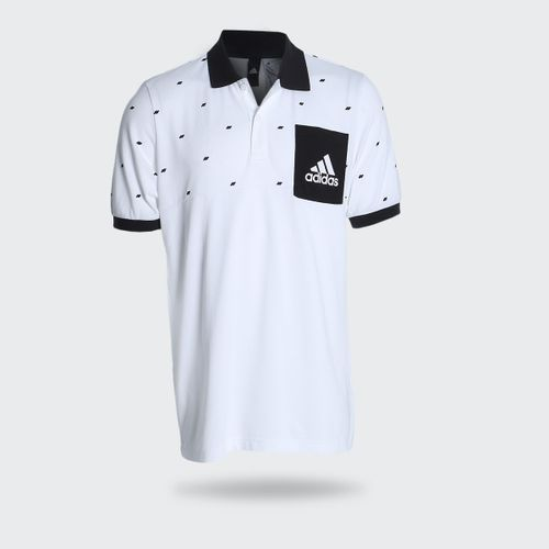 Camisa Polo Adidas ESS YD Branca Masculina d29d5a20ee3b5