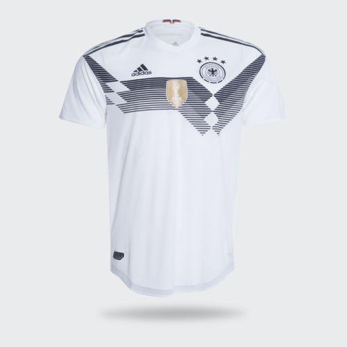 Camisa Adidas Alemanha Authentic I 2018 Branca Masculina a1610220ff527