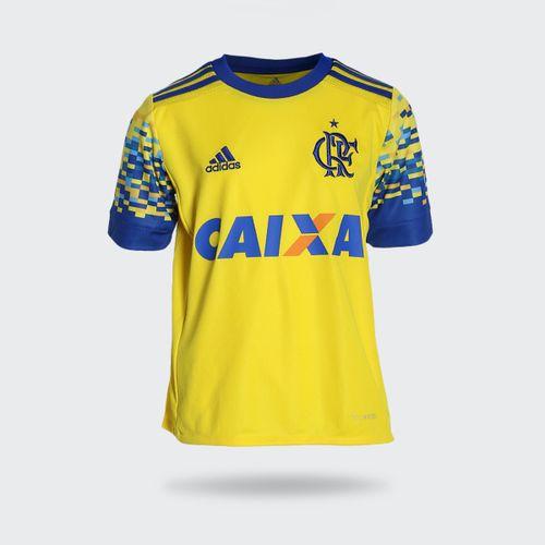 Camisa Adidas Flamengo III 2017 Amarela Infantil