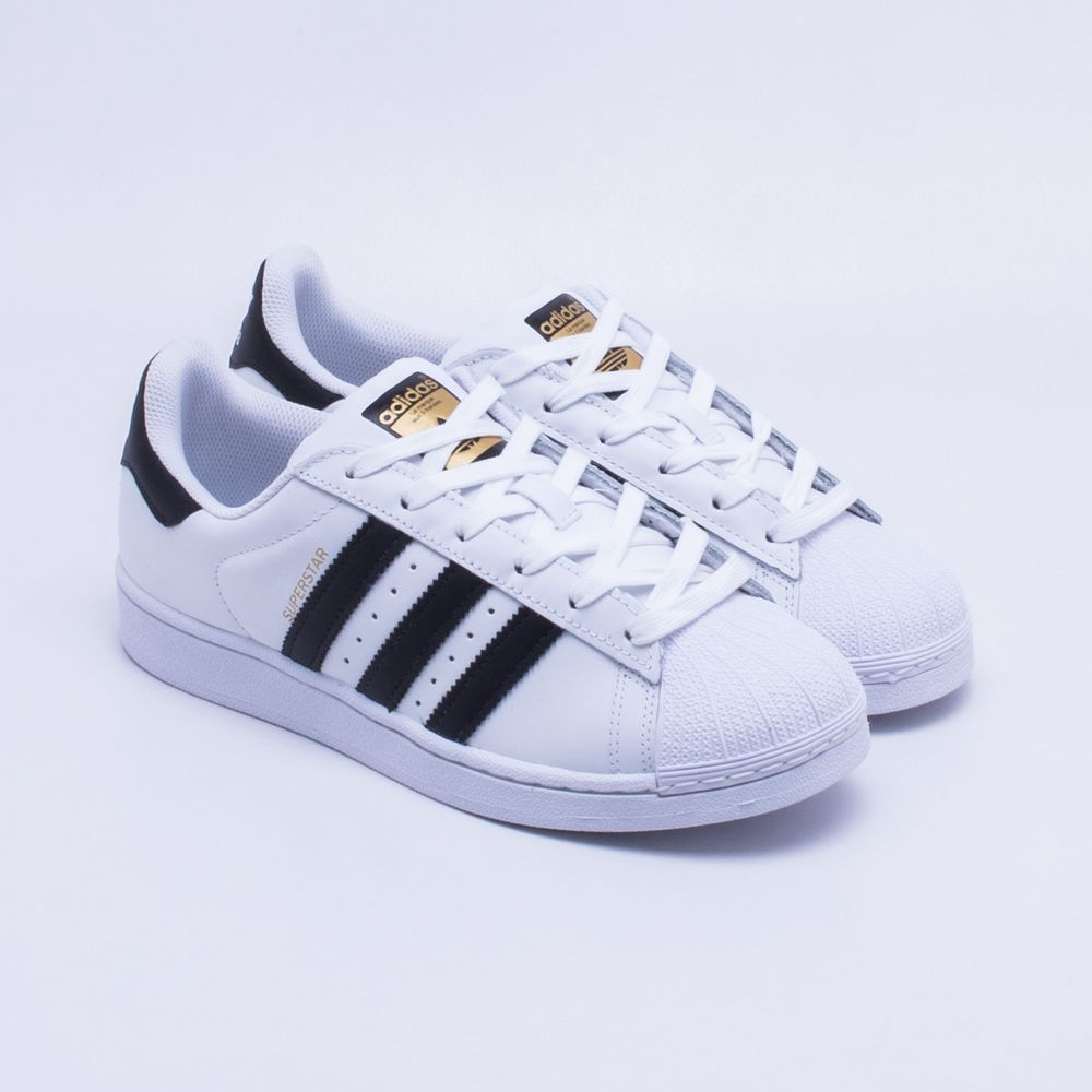 8b3988879da Tênis Adidas Superstar Foundation Originals Branco e Preto - Gaston ...