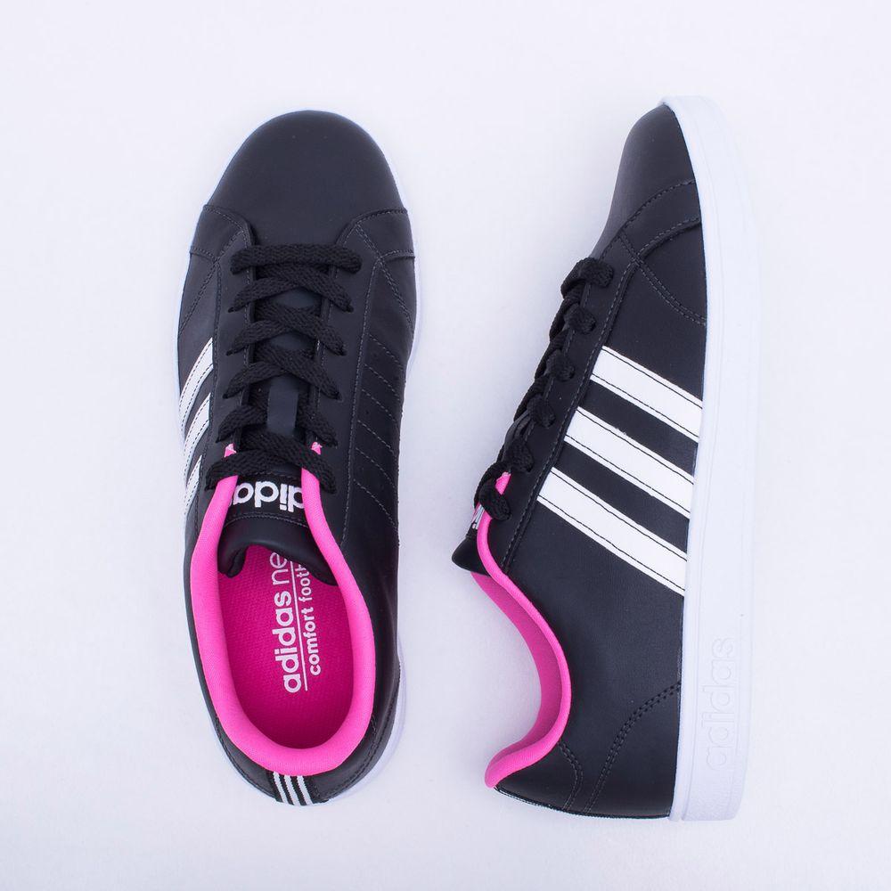 6abc20df637 Tênis Adidas Vs Advantage Preto Feminino Preto e Rosa - Gaston ...
