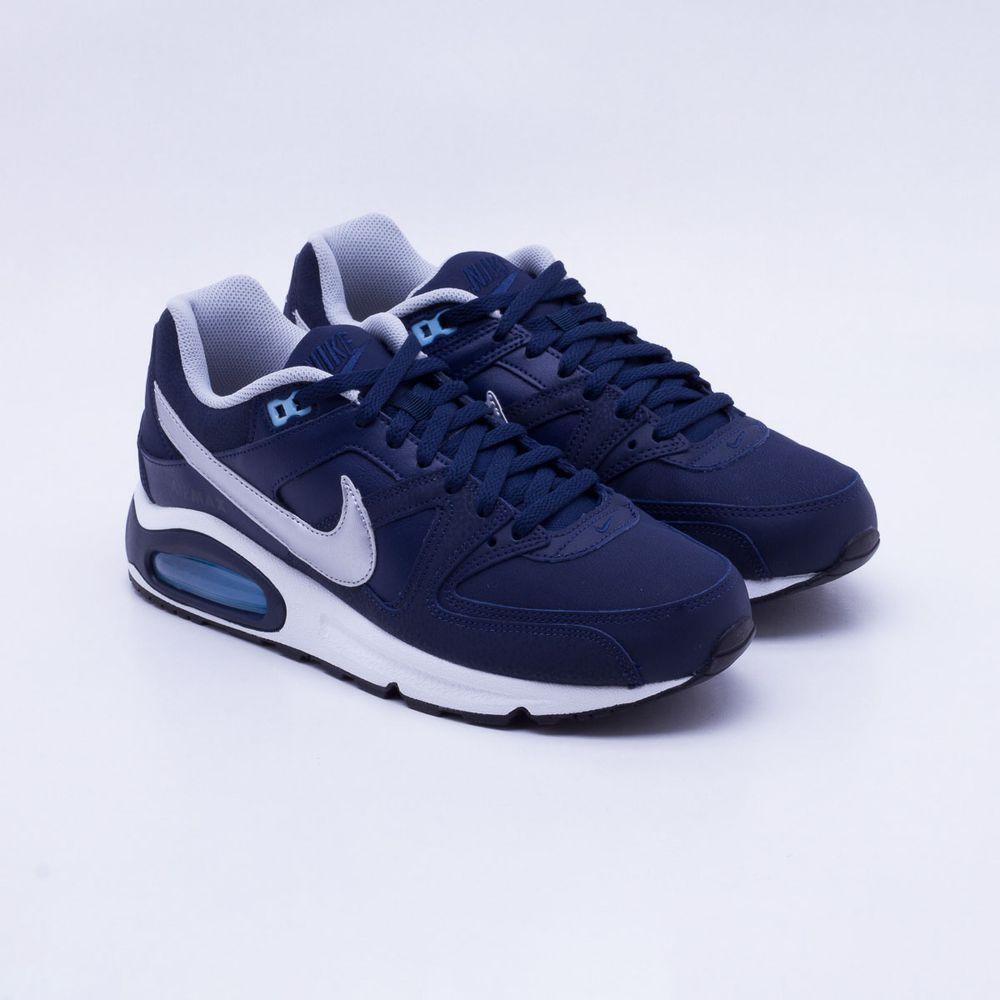 c330be69c3ad19 ... uk tênis nike air max command leather marinho masculino azul marinho e  prata gaston paqueta esportes
