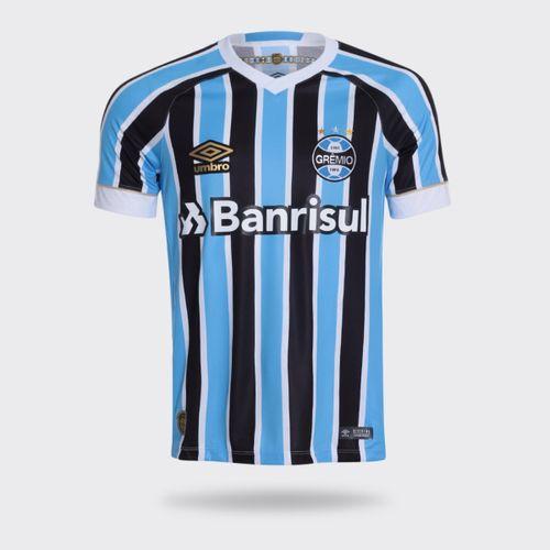 Camisa Umbro Grêmio I 2018 Sem Número Torcedor Tricolor Masculina 14a39248947de