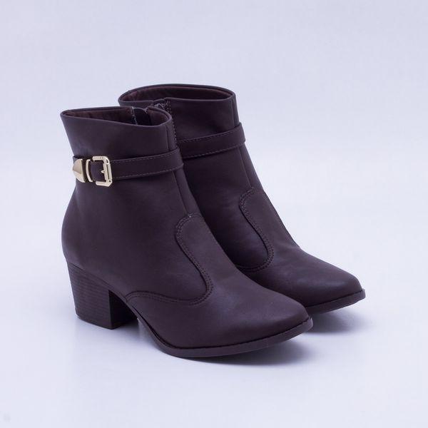 0e0b676b00 Ankle Boot Sandra Salto Grosso Café