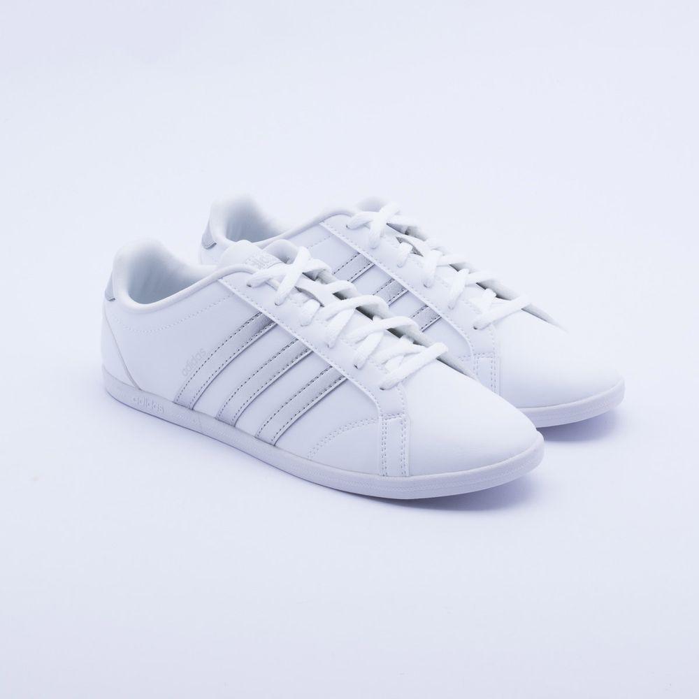 12e1deb8b Tênis Adidas VS Coneo QT Branco Feminino Branco - Gaston - Paqueta ...