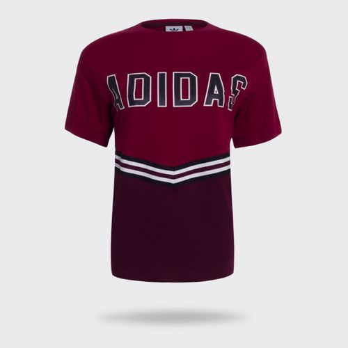 Camiseta Adidas Adibreak Bordô Feminina