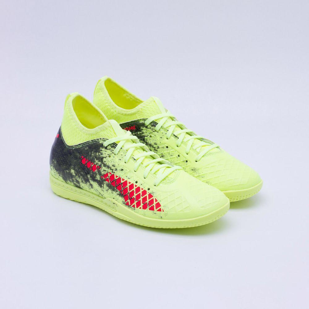 64cfcecc1edc7 Chuteira Futsal Puma Future 18.3 IT Amarelo Neon - Gaston - Paqueta ...