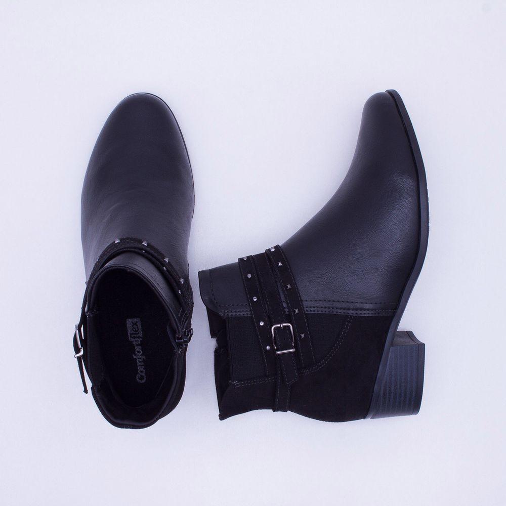 aeb7b9433a Ankle Boot Comfortflex Preta Preto - Gaston - Paqueta Calçados