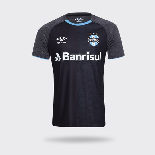 f2ff6d7b7d Camisa Umbro Grêmio 2018 Aquecimento Preta Masculina
