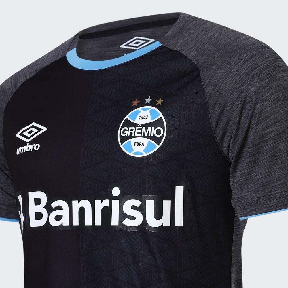 Camisa Umbro Grêmio 2018 Aquecimento Preta Masculina Preto e Grafite -  Gaston - Paqueta Esportes fb5dec4f03e50