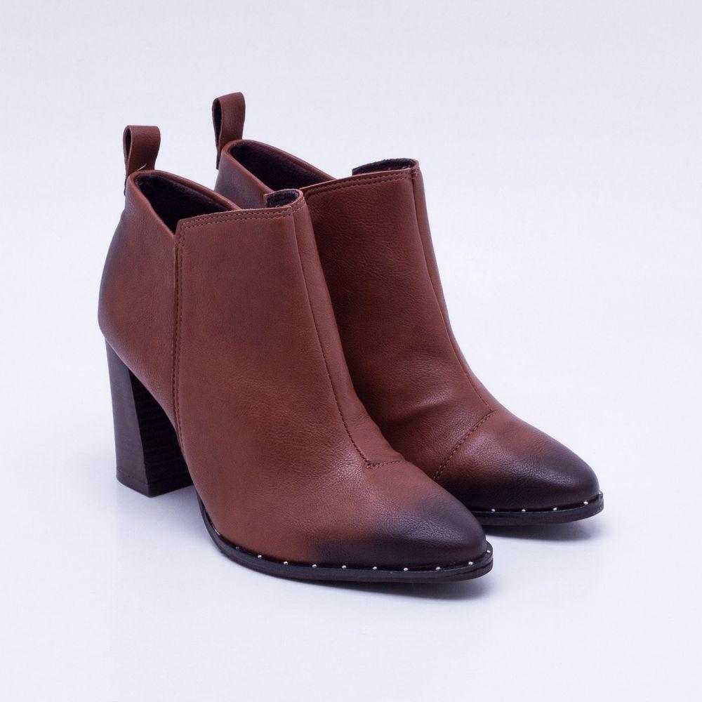 f026b3a993 Ankle Boot Território Nacional Whisky Whisky - Gaston - Paqueta Calçados