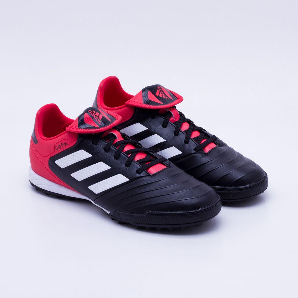 Chuteira Society Adidas Copa 18.3 TF Preto e Vermelho - Gaston ... 0a801aa9ea406