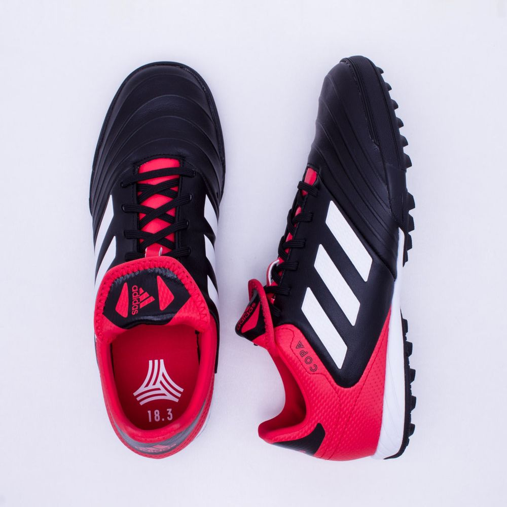 6610ccb2c4 Chuteira Society Adidas Copa 18.3 TF Preto e Vermelho - Gaston - Paqueta  Esportes