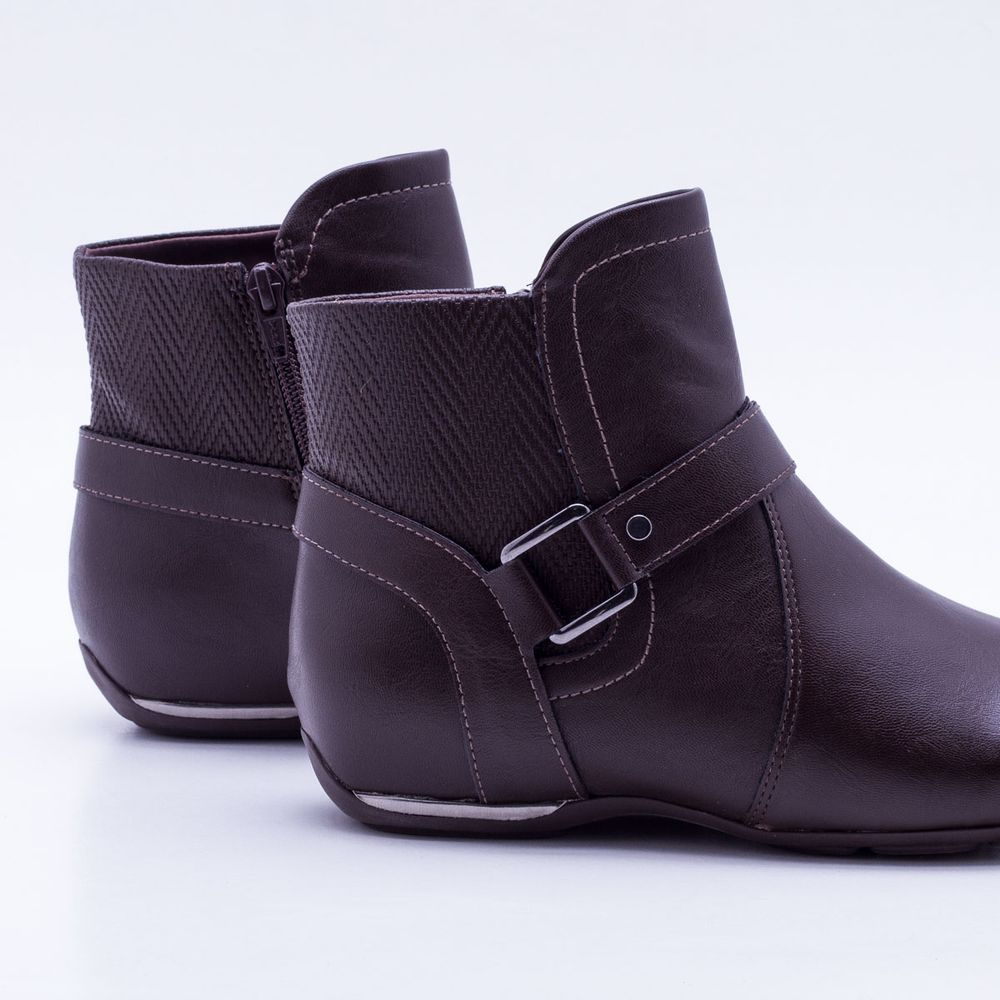 b10fa1946b Ankle Boot Comfortflex Marrom Marrom - Gaston - Paqueta Calçados
