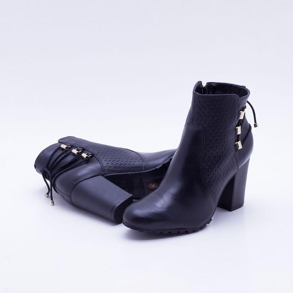 7a892bd594 Ankle Boot Verofatto Couro Preta Preto - Gaston - Paqueta Calçados
