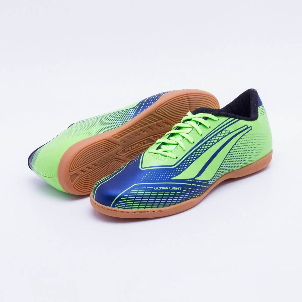 Chuteira Futsal Penalty Storm Speed VII IC Verde Limão e Marinho - Gaston -  Paqueta Esportes abe05f7793947