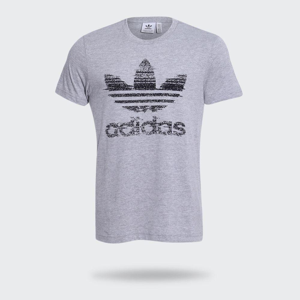 Camiseta Adidas Trefoil Traction Originals Cinza Masculina Cinza ... 97d20d23b3df8