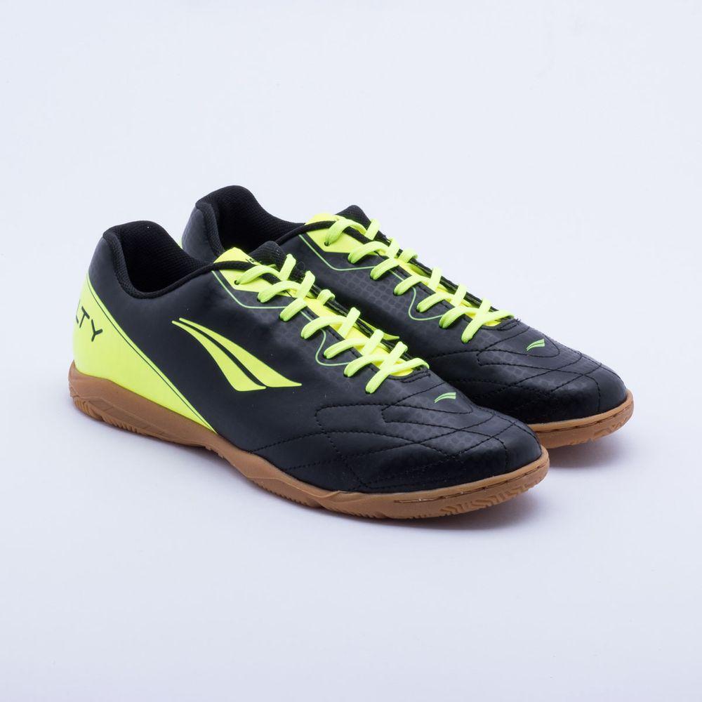 d6ff2fa190 Chuteira Futsal Penalty Matis VIII IC Preto e Verde - Gaston ...