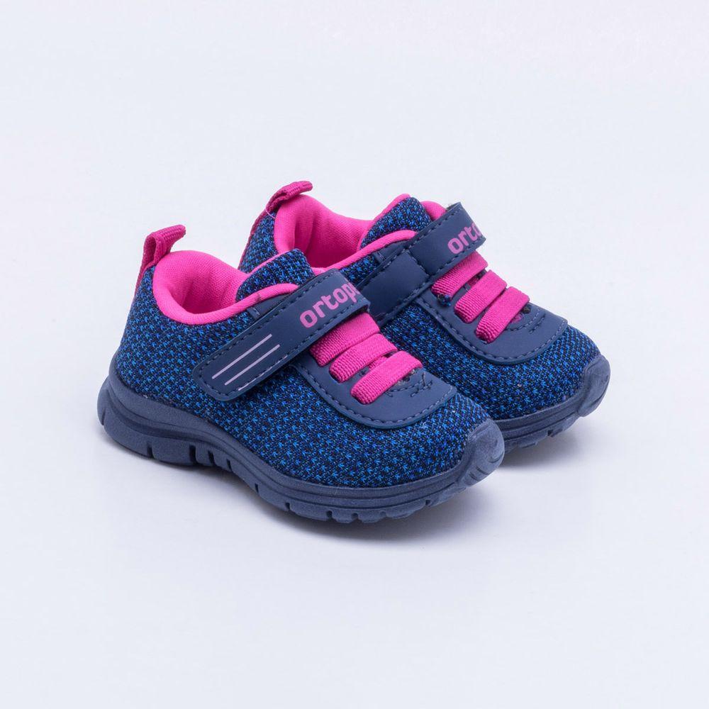 c59a3878815 Tênis Ortopé Infantil Azul Azul e Rosa - Gaston - Gaston