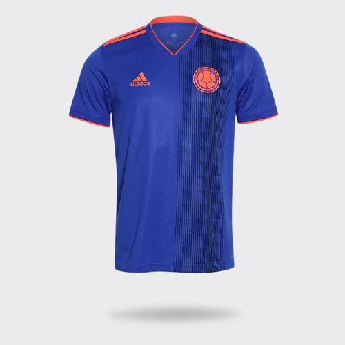 7096e0c2b Camisa Adidas Colômbia II Azul Masculina