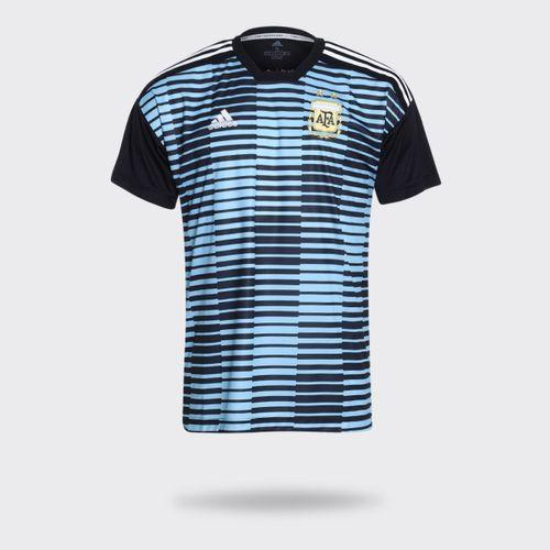 Camisa Adidas Argentina Pré-Jogo I Preta Masculina adac2aa19c427