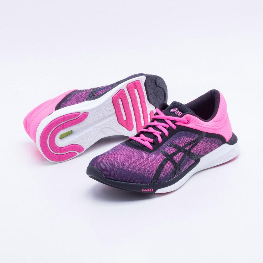 5b654b44a8 Tênis Asics Gel FuzeX Rush Feminino Rosa e Roxo - Gaston - Paqueta Esportes