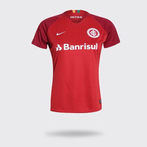Camisa Nike Internacional 2018/2019 I Vermelha Feminina