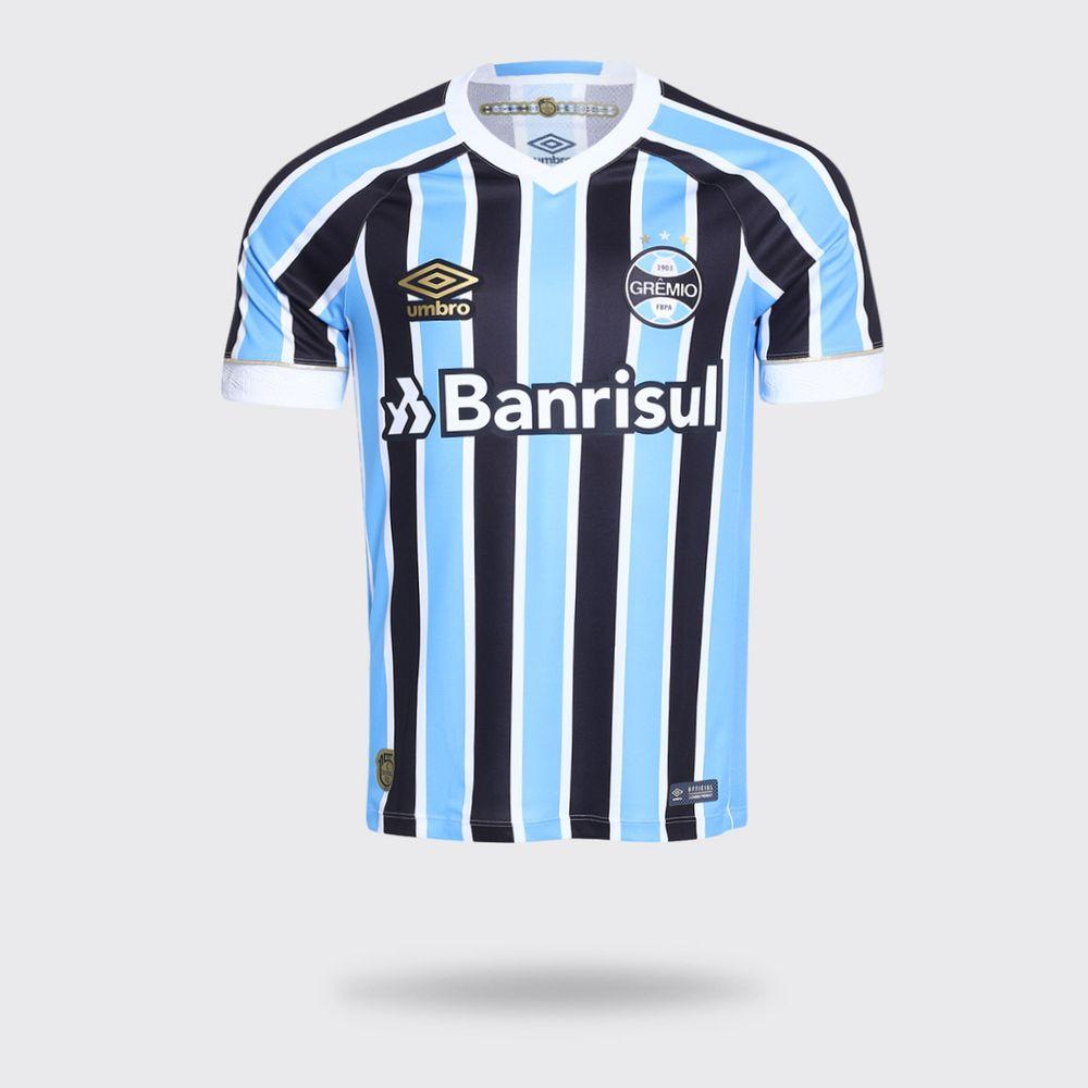 e9c7d5c00c Camisa Umbro Grêmio I 2018 Com Número Tricolor Torcedor Masculina ...