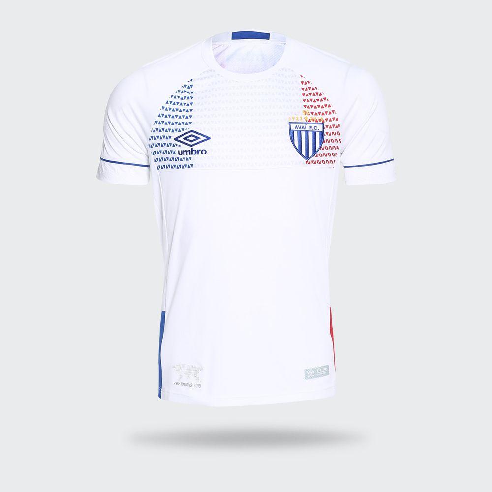 Camisa Umbro Avai 2018 II Lion Bleu Branca Masculina Branco e ... 8c09c88b0d1