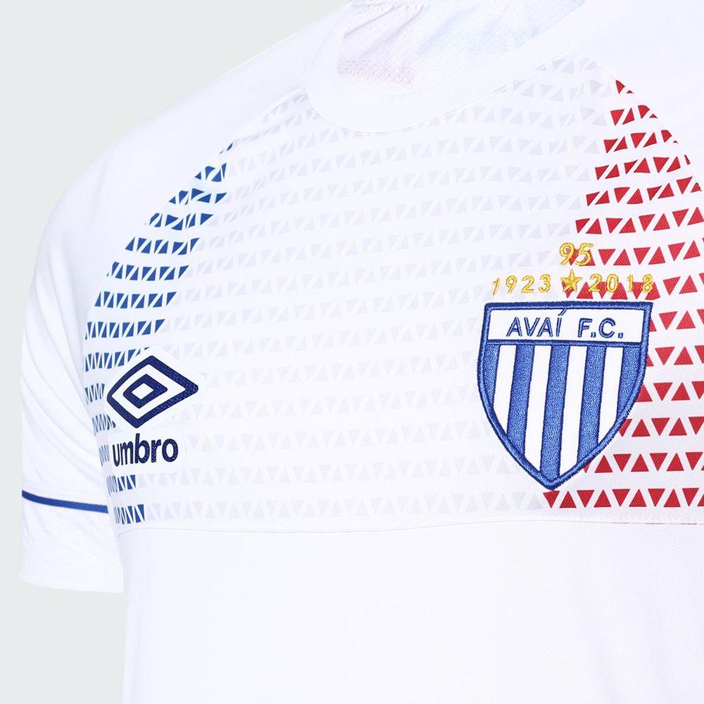 Camisa Umbro Avai 2018 II Lion Bleu Branca Masculina Branco e Vermelho -  Gaston - Paqueta Esportes 4958fff37752b