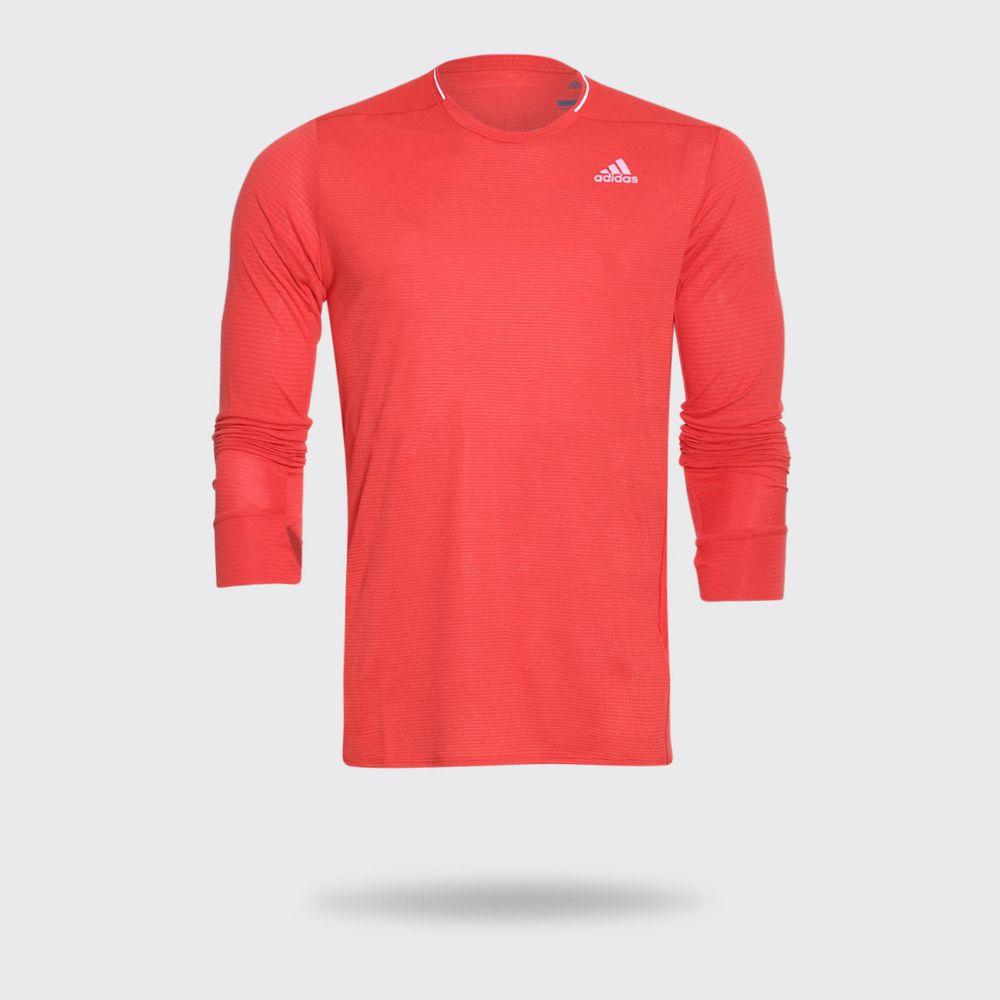 0bbafff66b855 Camiseta Manga Longa Adidas Supernova ML Vermelha Masculina Vermelho ...